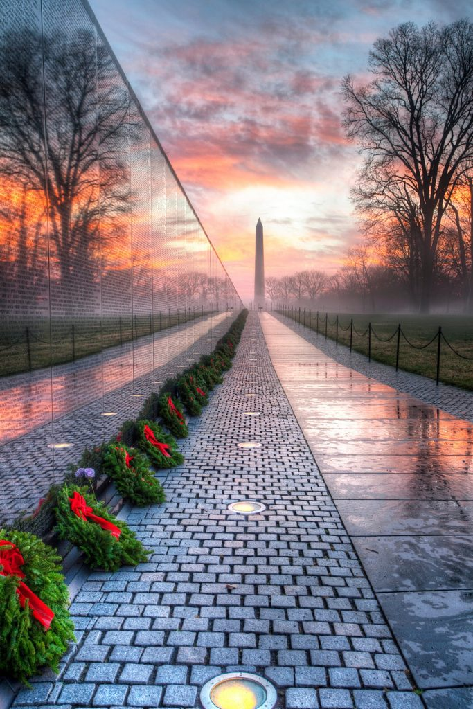 Vietnam Veterans Memorial at Sunrise by Angela Pan